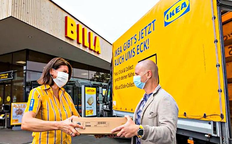 Ikea и Billa запустили инновационный логистический сервис «Click & Collect in deiner Nähe»