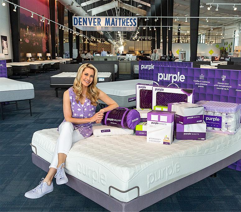 Purple с 2017 года продает свои продукты через сети Mattress Firm и Denver Mattress